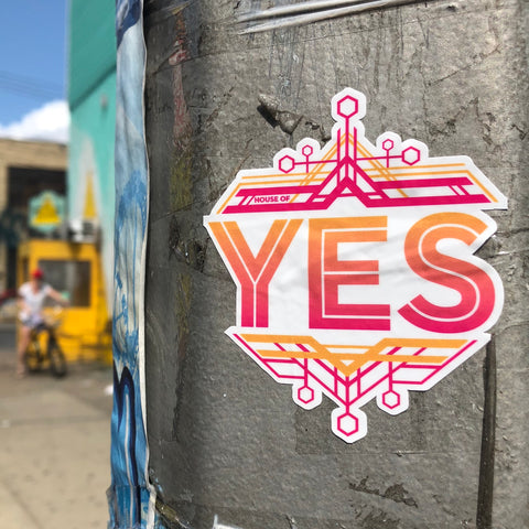 Geometric Yes Sticker