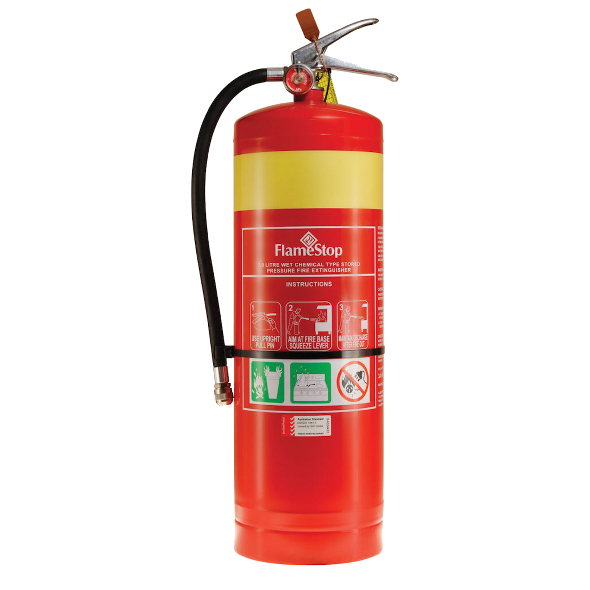 Wet Chemical 7.0L Fire Extinguisher