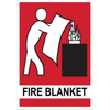 Location Sign, Fire Blanket