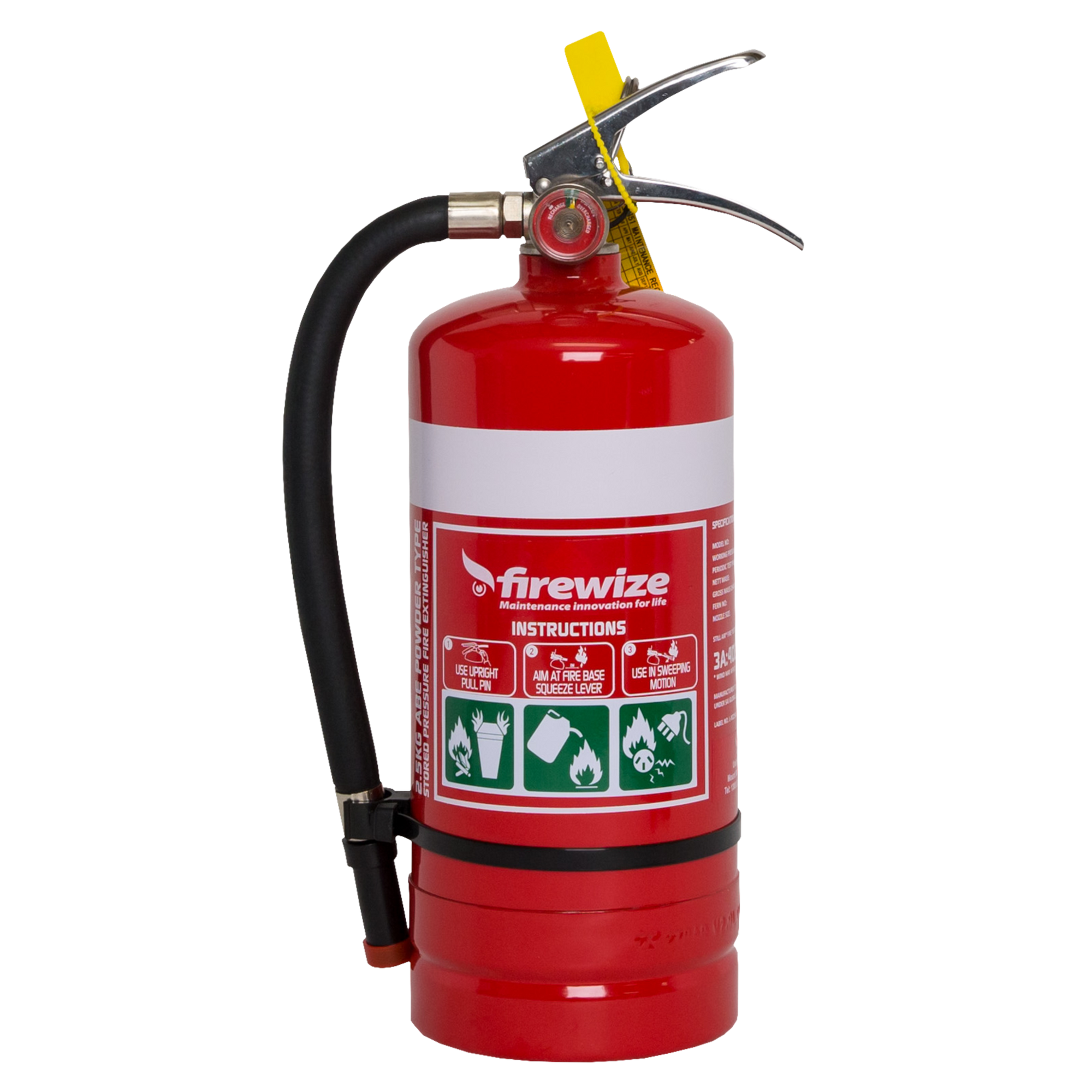 Dry Powder ABE 2.5kg fire extinguisher