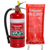 Dry Powder ABE fire extinguisher and fire blanket 1.2m x 1.8m