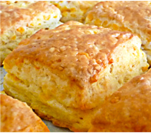 Bakery - Homemade Buttermilk Cheddar Biscuits - Half Dozen