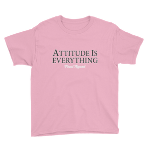 CHARITY PINK YOUTH ATTITUDE SHORT SLEEVE T-SHIRT