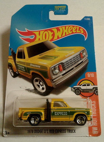 Hot Wheels, 2017 HW Hot Trucks, 1978 Dodge Li'l Red Express Truck [Yellow] 11/365