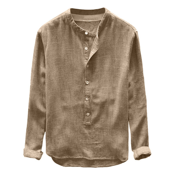 Regular Fit Linen Blend Shirt
