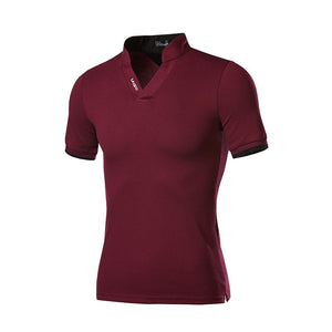 V-Neck Polo Shirt