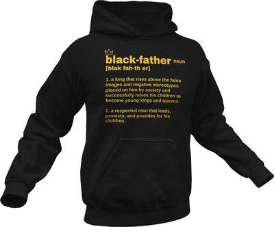 Black Father Definition - Blk & Gld Premium