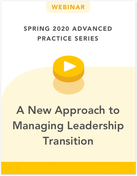 A New Approach to Managing Leadership Transition