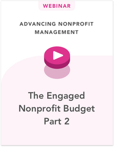 The Engaged Nonprofit Budget Part 2