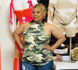 Camo Razor Back Top -  Mogul Boutique