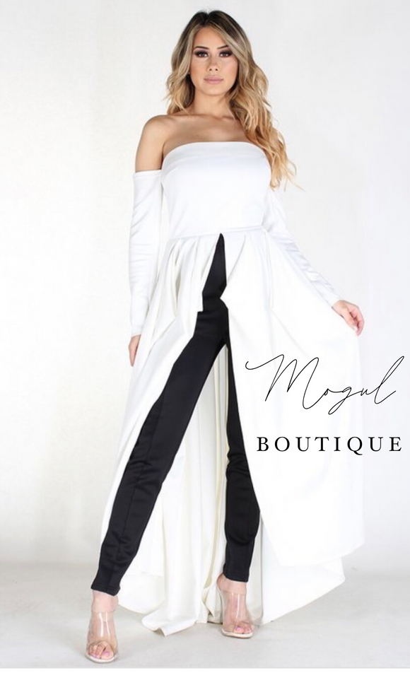 White Maxi Top -  Mogul Boutique