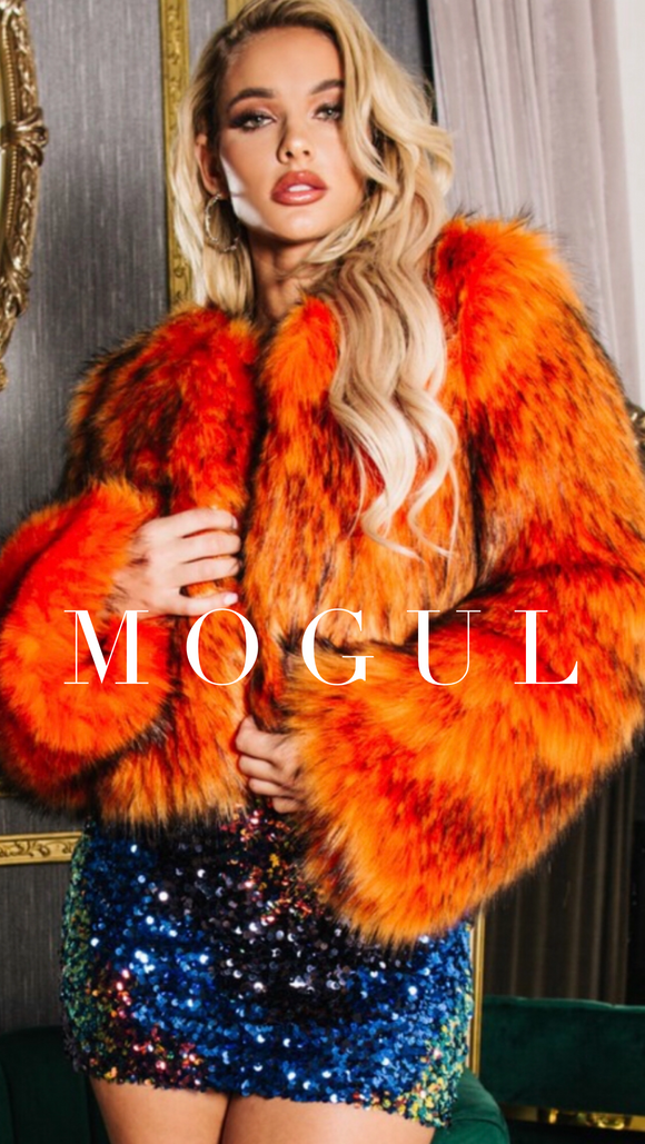 Vibrant Color Faux Fur Jacket -  Mogul Boutique