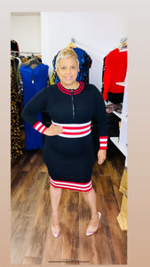 Black with Red Strip Waistband -  Mogul Boutique
