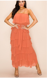 Clay Maxi with Ruffles -  Mogul Boutique