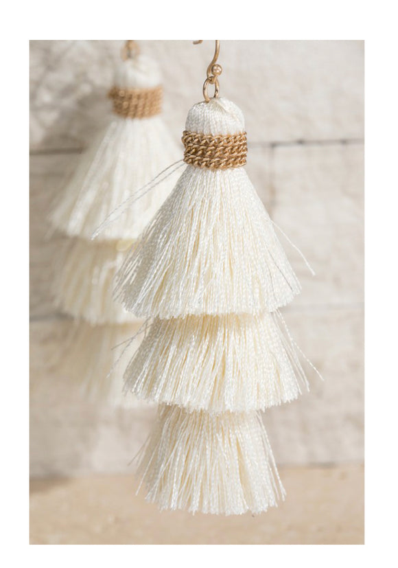 Ivory Tassel Earrings