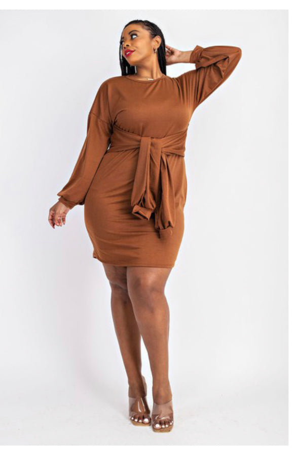 Plus Size Sweatshirt Dress -  Mogul Boutique