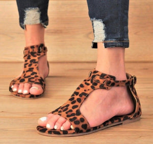 Leopard Sandals -  Mogul Boutique