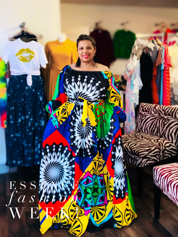Tribal Print Maxi -  Mogul Boutique
