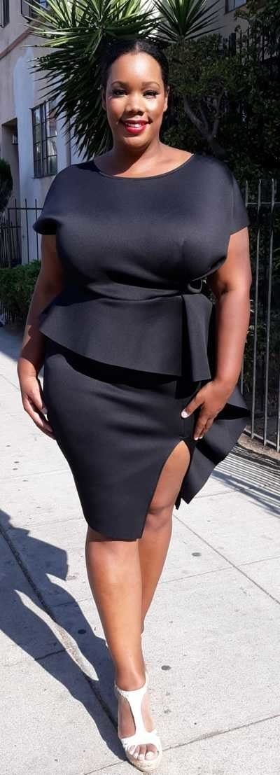 White Plus-Size Bodycon Dress with Side Ruffle