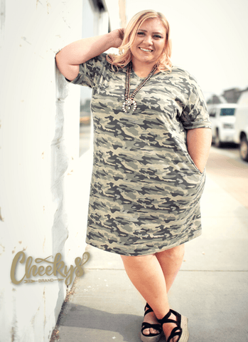 Hidden Beauty Camo Tunic with Pockets Cheekys Apparel Cheekys Brand
