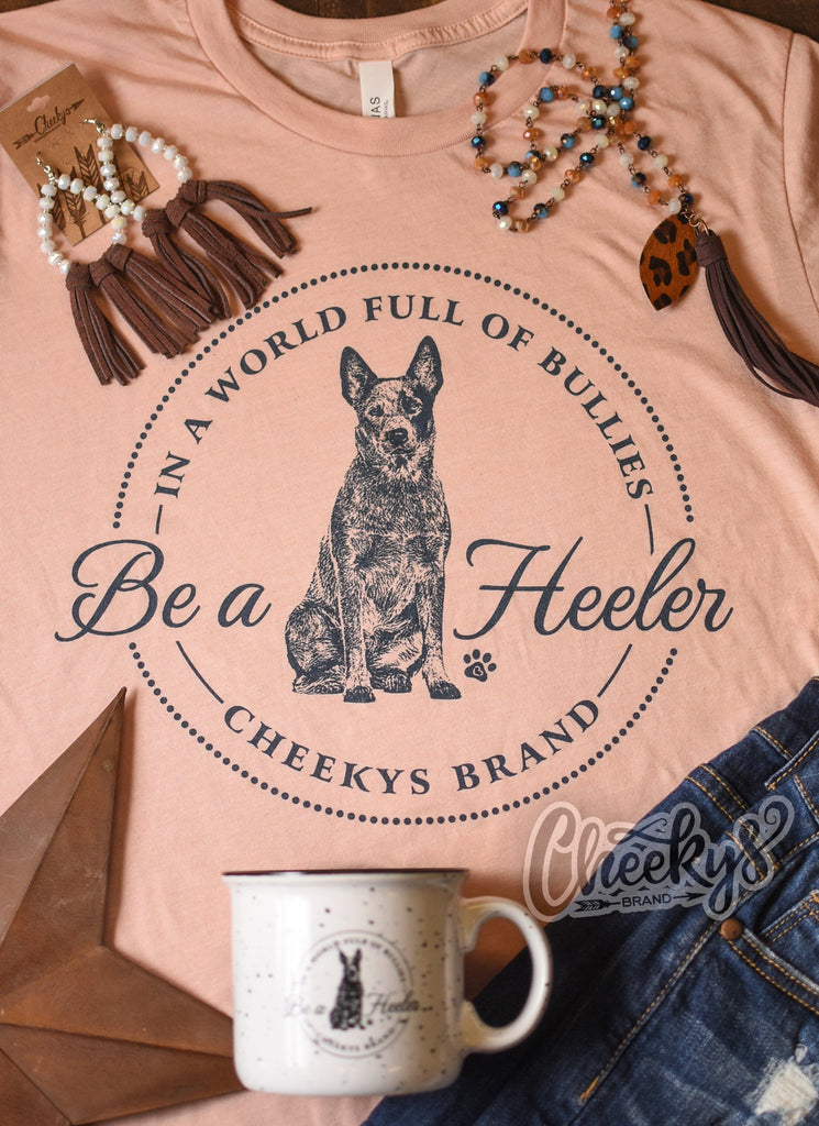 In a World Full Of Bullies Be a Heeler Unisex Tee on Dreamsicle Cheekys Apparel 37