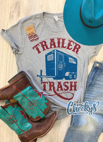 Trailer Trash Unisex Tee on Steel Grey