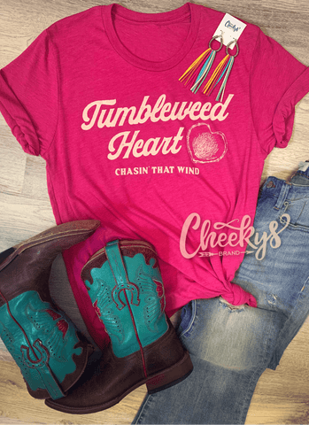 Tumbleweed Heart Unisex Tee On Berry