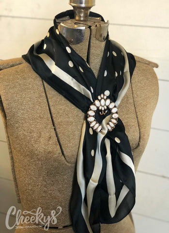 Black and White Polka Dot Wild Rag