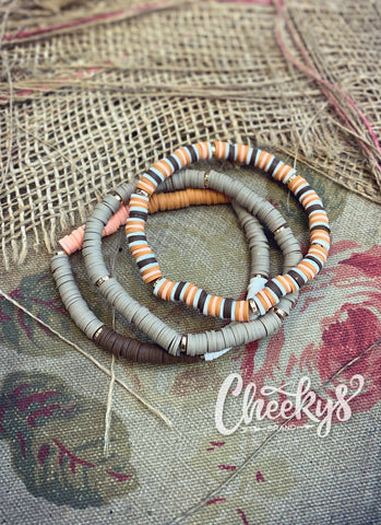 Just Peachy Brown Stretch Bracelet