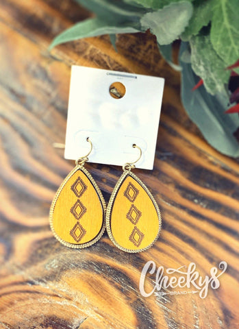 Golden Rush Tear Drop Earrings