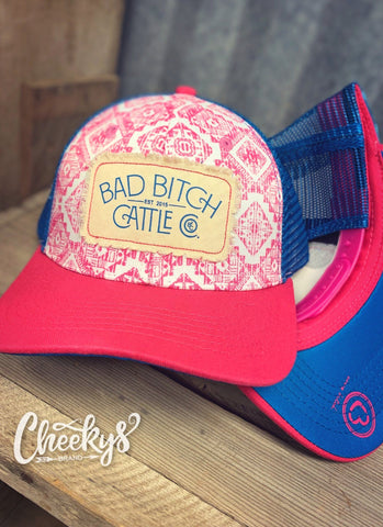 BBCC Pink Aztec Cap with Patch