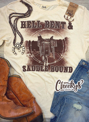 Hell Bent and Saddle Bound Unisex On Natural Cheekys Apparel 23