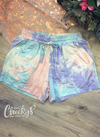 Pastel Tie-Dye Lounge Shorts Cheekys Apparel Cheekys Brand