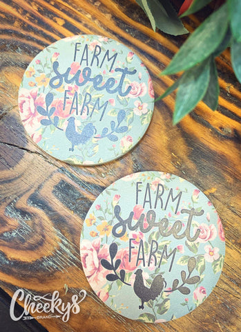 Farm Sweet Farm Car Coaster Accessories 12