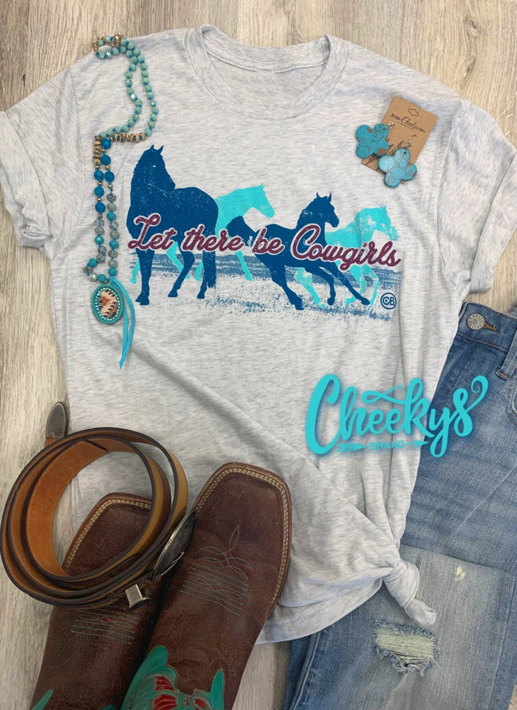 Let There Be Cowgirls Unisex on Heather Caliche