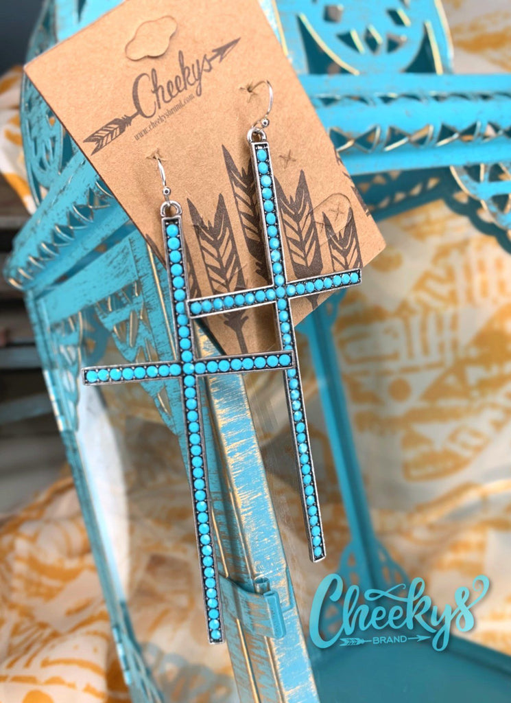 Can I Get An Amen Earrings With Turquoise Cheekys Apparel 18