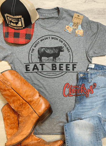 Eat Beef Unisex Tee on Gravel Road Cheekys Apparel 38