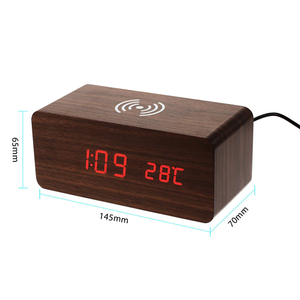 Wooden Alarm Wireless Fast Charger
