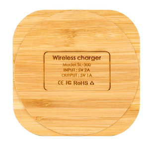 Wooden Square Wireless Charger