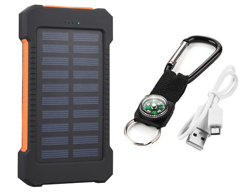 10,000 mAh Waterproof Solar Battery Charger