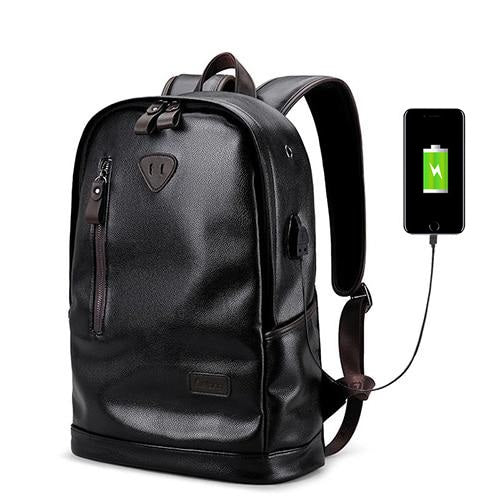 Deluxe Leather Charger Backpack