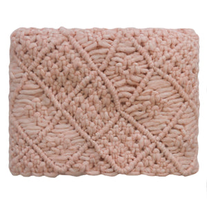 Blush Pink Slant Throw