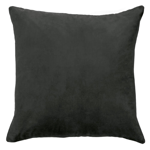 Aura Lux Velvet Cushion - Charcoal
