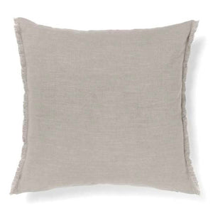 Aura Fringe Cushion - Mink