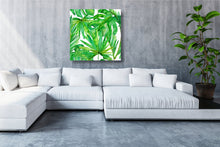 Load image into Gallery viewer, Bright Greenery Canvas - 120x120cm