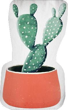 Orange Pot Cactus Door Stop