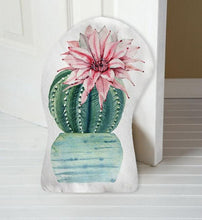 Load image into Gallery viewer, Pink Flower Cactus Door Stop