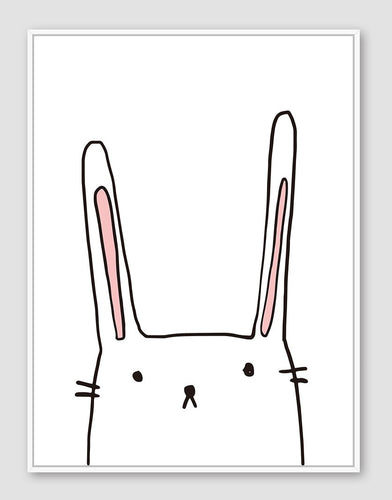 Candy Rabbit Floating Frame - 30x40cm