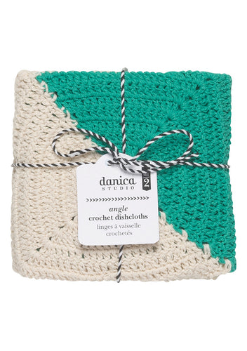 Danica Studio Angle Crochet Dishcloth - Sea Green