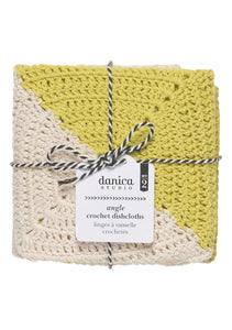 Danica Studio Angle Crochet Dishcloth - Citrine